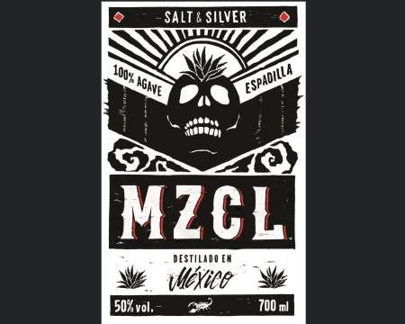 MZCL - Dr. Sours Mezcal - Back Label