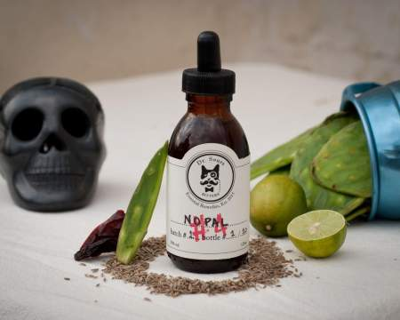 This is a bottle of Dr. Sours Mexican Cocktail Bitter #4 - Nopal