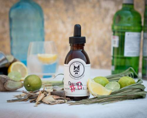 This is a bottle of Dr. Sours Mexican Cocktail Bitter #6 - Quina