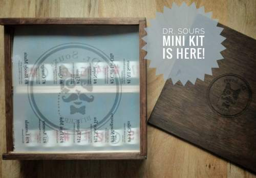 This is a picture of the limited Dr. Sours Mexican Cocktail Bitters Mini Kit