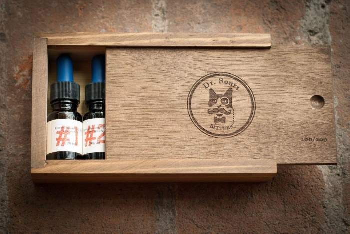 This is a picture of the limited Dr. Sours Mexican Cocktail Bitters Micro Kit