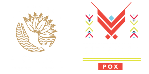 "These are two logos: ""Mezcal Local"" and ""Siglo Cero Pox"", both Dr. Sours friends"