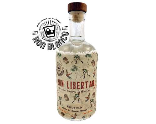 "This is a bottle of ""Ron Libertad"", an exclusive Mexican White Rum, that is distributed in Europe by Dr. Sours"