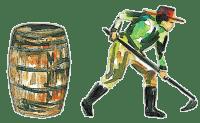 Dr. Sours Partner - Ron Libertad White Rum - Farmer and Barrel Pictogram