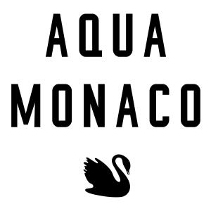 "This is the black and white swan logo of ""Aqua Monaco"", a cooperation partner of Dr. Sours"
