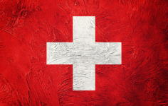 This is a vintage swiss flag