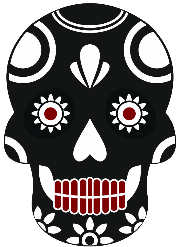"""A skull icon in a traditional Mexican """"Day of the dead""""-syle, representing the State of Sonora where Bacanora is produced"""