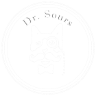 This is the Dr. Sours Logo in white